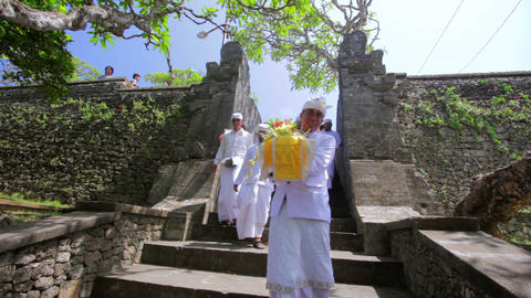 BALI - MAY 2012: ceromony in uluwatu temple Stock Video Footage
