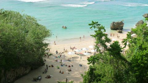 Idyllic Beach at Bali island Stock Video Footage