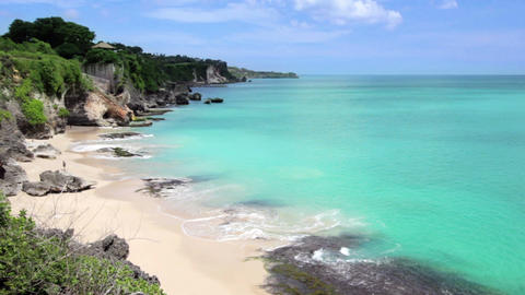 Idyllic Beach at Bali island Footage