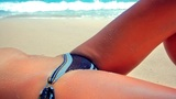 sexy perfect body at beach Footage