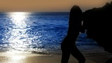 mysterious sexy girl at beach Footage
