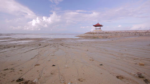 low tide in bali Stock Video Footage