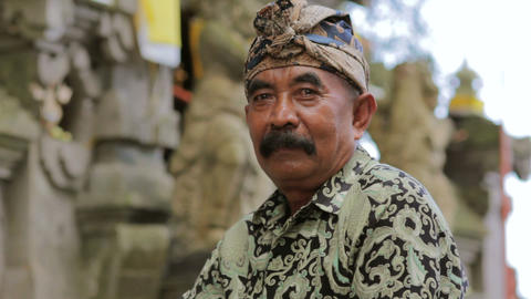 BALI - MAY 2012: handsome balinese man posing Stock Video Footage