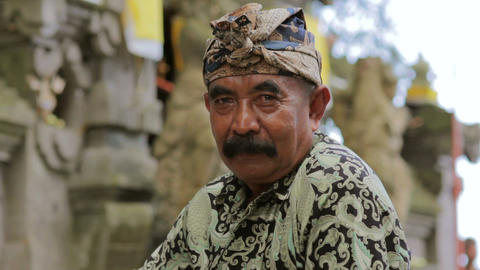 BALI - MAY 2012: handsome balinese man posing Stock Video Footage