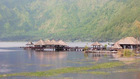 Batur Danau Lake, Bali Stock Video Footage