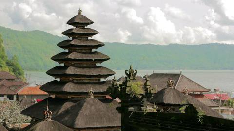 balinese temple, bali, indonesia Stock Video Footage