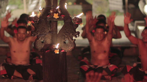 kecak dance performance, bali, indonesia Stock Video Footage