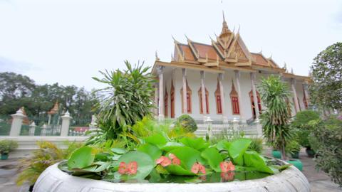 Royal Palace, Phnom Penh, Cambodia Stock Video Footage