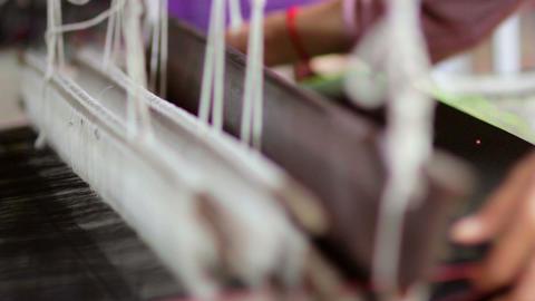 handmade textile manufacturer Stock Video Footage