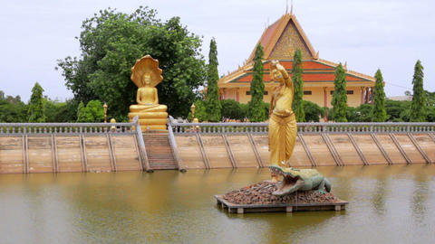 Oudong, old capital city of cambodia Stock Video Footage