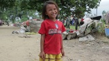 Kids in cambodian slums Footage