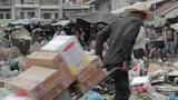 PHNOM PENH - JUNE 2012: local asian market dumping Footage
