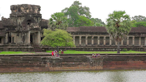 Angkor Wat, Cambodia Stock Video Footage