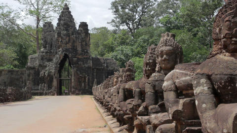 Historical gates in angkor wat Stock Video Footage