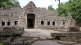 Caucasian Tourist In Angkor Wat stock footage