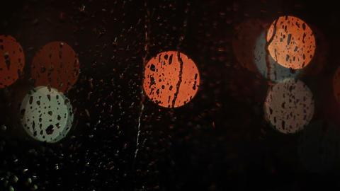 Raindrops on glass window Stock Video Footage
