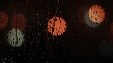 Raindrops on glass window Stock Video Footage