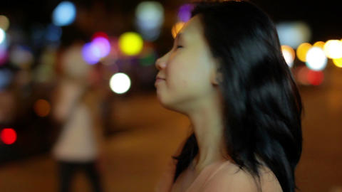 chinese girl did not like idea Stock Video Footage