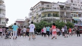 PHNOM PENH - JUNE 2012: Outdoor Tai Chi In City Center stock footage
