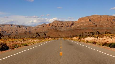Scenery road through Arizona Footage