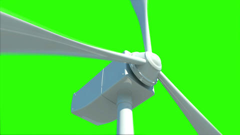 Animation of wind turbine in the sea Animation