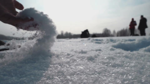 Fluffy fresh snow Footage
