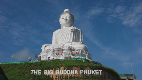 Big Buddha monument, timelapse Footage