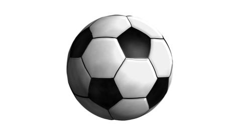 Spinning Soccer ball alpha Animation