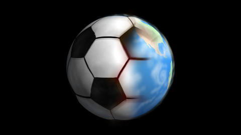 Earth transition to Soccer ball Animation