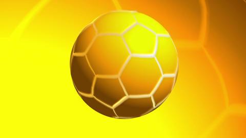 Golden Soccer Ball with bg Animation