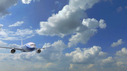 Video 3840x2160 UHD - Large Passenger Aircraft Flying Very Close To The Camera A stock footage