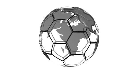 Black and White Earth and Soccer ball Animation