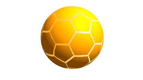 Golden Soccer ball alpha Animation