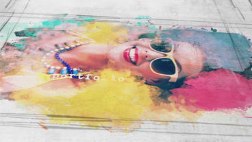 Watercolor Slideshow After Effects Templates