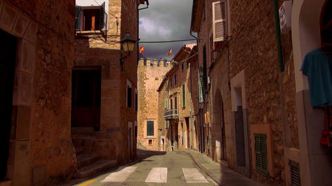 Empty street in a romantic spanish village Live Action