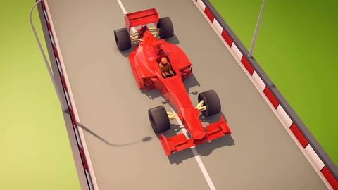 Speedy Formula One Moves Forward Animation