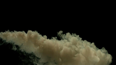 Slow motion dirty smoke Footage