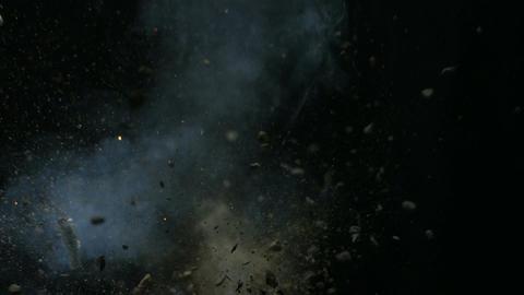 Explosion on black Footage