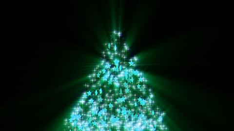 Christmas tree glitter stars shiny loop-blue Animación