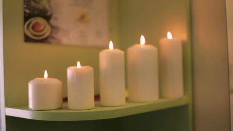 Spa accessories for spa salon with candles Footage