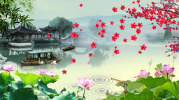 China s wind and ink landscape Animation