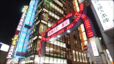 Japan Tokyo Shinjuku Kabukicho walking Footage