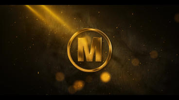 Gold Metal Particle Logo After Effects Templates