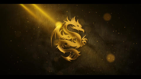 Gold Metal Particle Logo After Effects Template