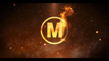 Particle Fire Logo Reveal After Effects Templates