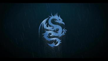 Thunderstorm Rain Metall Logo After Effects Templates