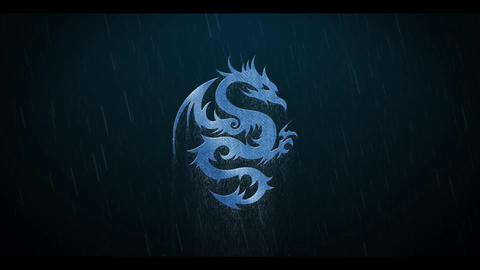 Thunderstorm Rain Metall Logo After Effects Template
