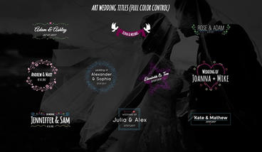 Art Wedding Titles After Effects Templates