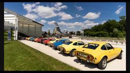 Opel Gt supercar Filmmaterial