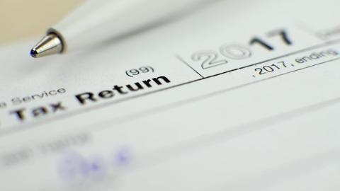 Individual Tax Return Form 1040 in 2017 画像